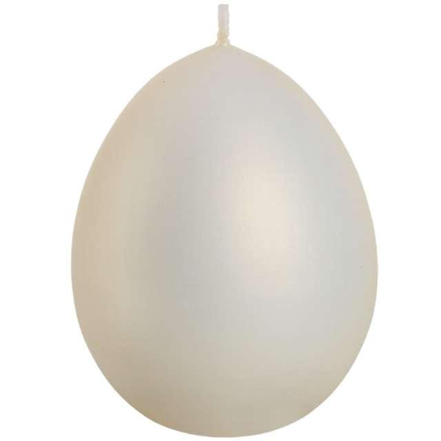 "Świeca ""Wielkanoc - matowe jajko"", ecru, Bartek-Candles, 100 mm"