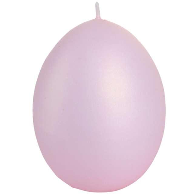 """Świeca """"Wielkanoc - matowe jajko"""", różowy, Bartek-Candles, 100 mm"""