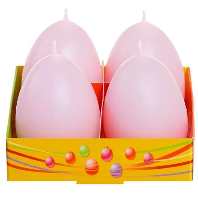 """Świeca """"Wielkanoc - pastelowe jajko"""", różowy, Bartek-Candles, 60 mm, 4 szt."""