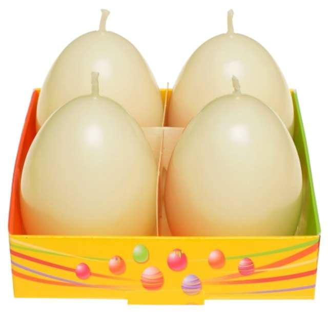 """Świeca """"Wielkanoc - pastelowe jajko"""", żółty, Bartek-Candles, 60 mm, 4 szt."""