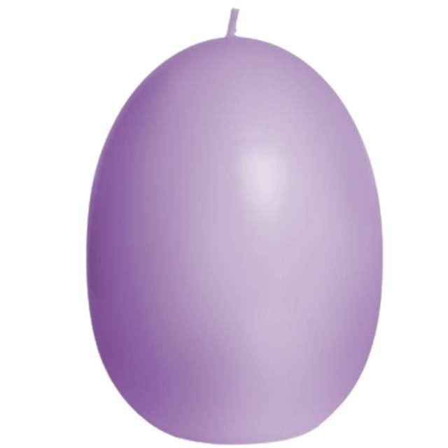 "Świeca ""Wielkanoc - pastelowe jajko"", fioletowy, Bartek-Candles, 100 mm"