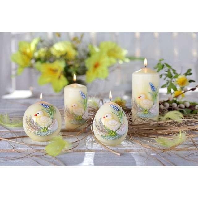 Świeca pieńkowa Wielkanoc z kurczakiem żółty Bartek-Candles 100 mm