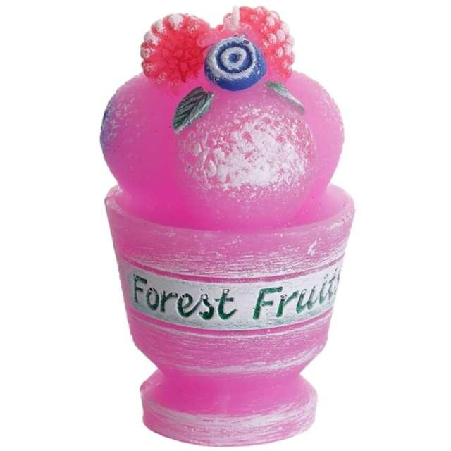 """Świeca zapachowa """"Tutti Frutti - Kwiat Żurawiny"""", Bartek-Candles, 80 mm"""