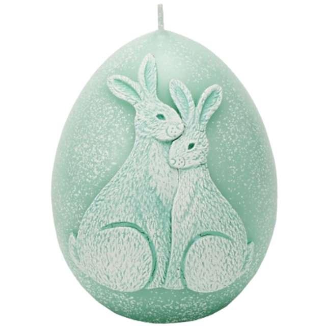 """Świeca """"Wielkanoc - jajko z zajączkami"""", tiffany, Bartek-Candles, 100 mm"""