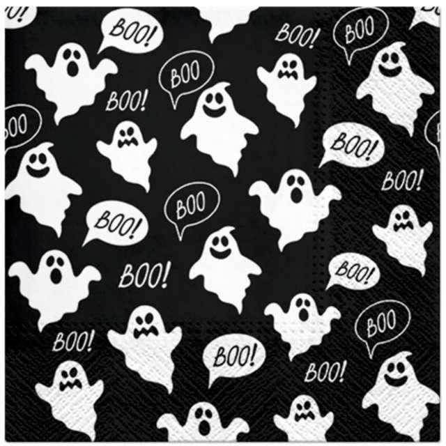 _xx_BOO - black, lunch napkin 33 x 33 cm