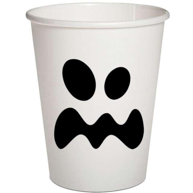 """Kubeczki papierowe """"Duch"""", białe, PAW, 250 ml, 10 szt"""
