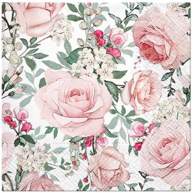 Serwetki Klasyczne róże Paw 33 cm 20 szt