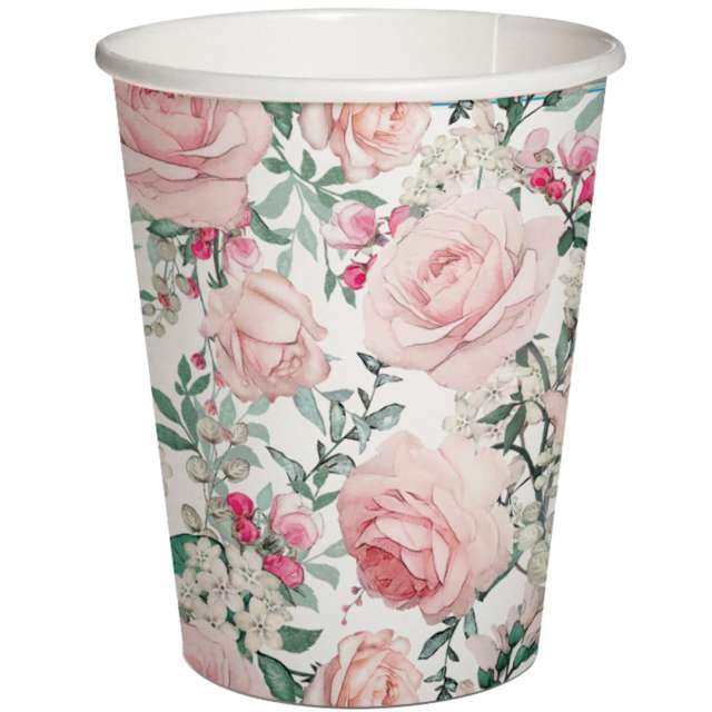 Kubeczki papierowe Róże PAW 250 ml 10szt