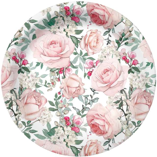 _xx_GORGEOUS ROSES paper plate (O) 18 cm