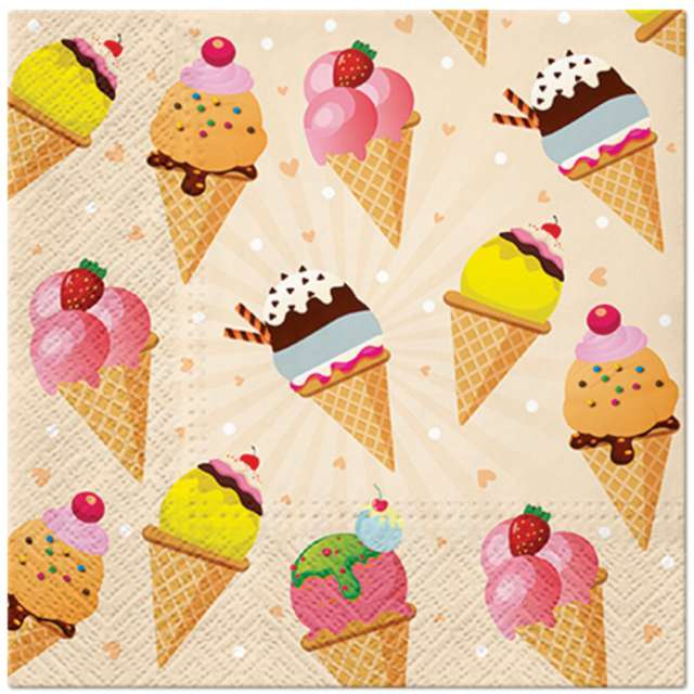_xx_ICE CREAM lunch napkin 33 x 33 cm