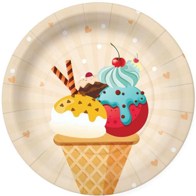 _xx_ICE CREAM paper plate (O) 18 cm