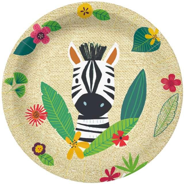 """Talerzyki papierowe """"Zebra"""", PAW, 23 cm, 10 szt"""