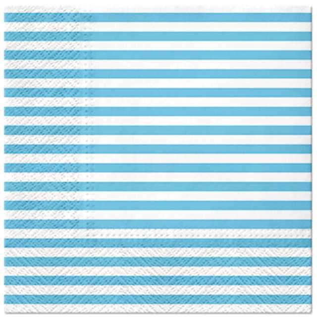_xx_LINES - light blue lunch napkin 33 x 33 cm
