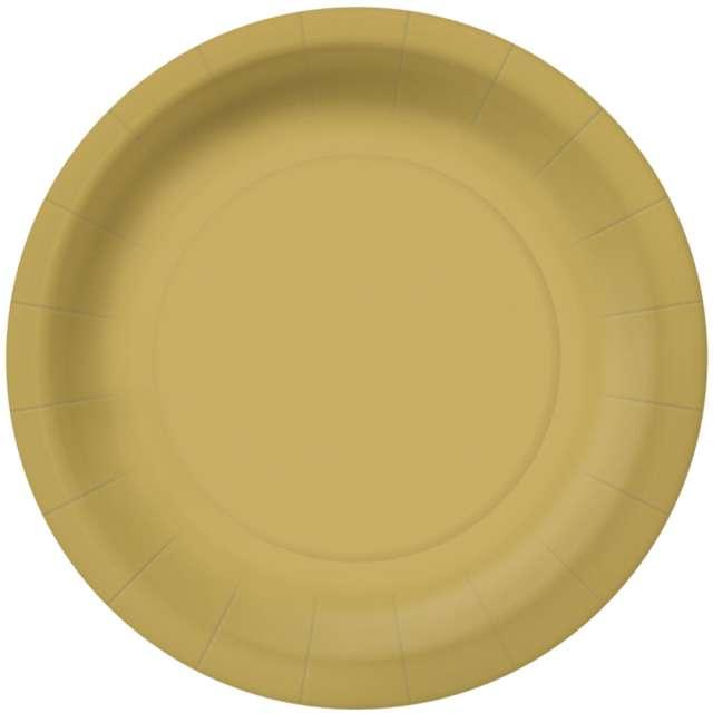 _xx_MONOCOLOR - gold paper plate (O) 18 cm