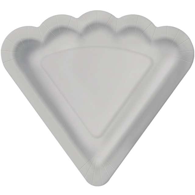 _xx_MONOCOLOR - silver paper plate 24 x 22 cm