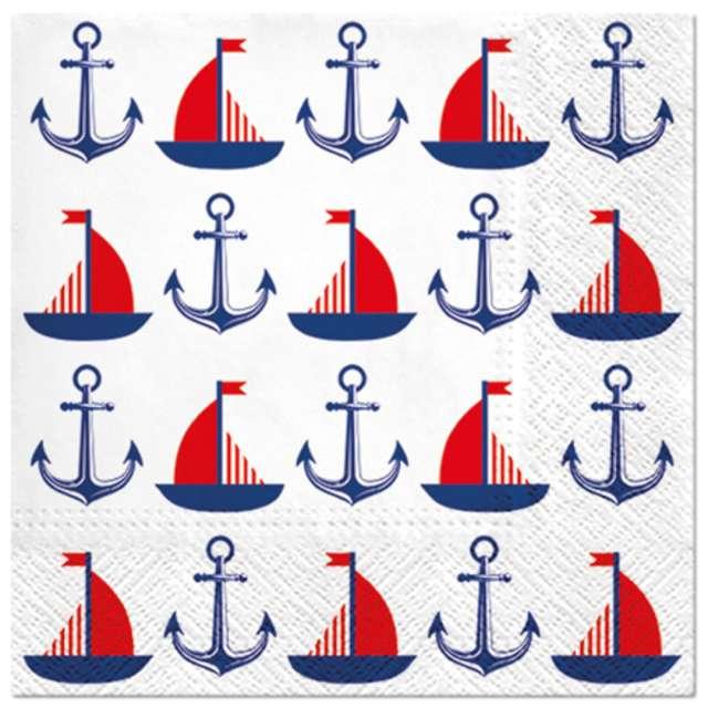 _xx_SHIPS & ANCHORS, lunch napkin 33 x 33 cm