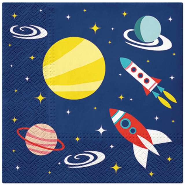 """Serwetki """"Kosmiczna podróż"""", Paw, 33 cm, 20 szt"""
