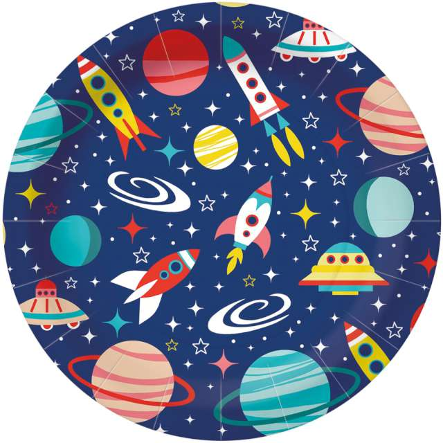 _xx_SPACE paper plate (O) 23 cm