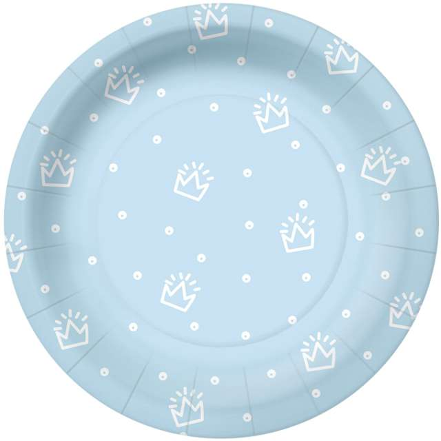 _xx_SPECIAL DAY - light blue paper plate (O) 18 cm