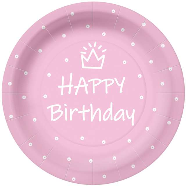 _xx_SPECIAL DAY - light pink paper plate (O) 23 cm