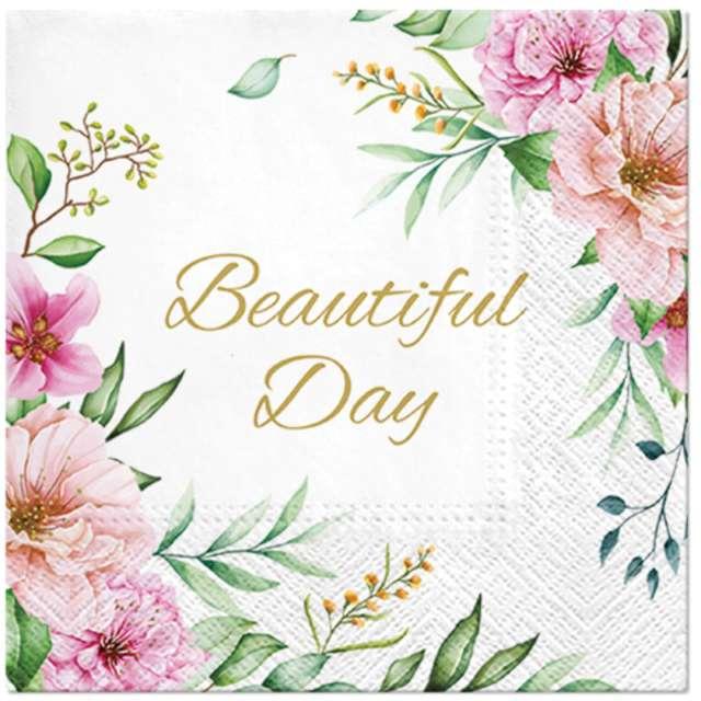 """Serwetki """"Beautiful Day - kwiaty"""", 33 cm, 20 szt"""