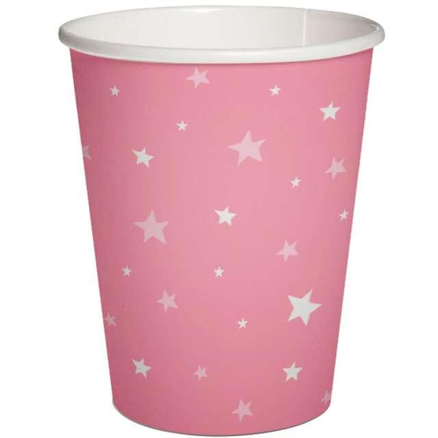 """Kubeczki papierowe """"Gwiazdki"""", różowe, PAW, 250 ml, 10 szt"""
