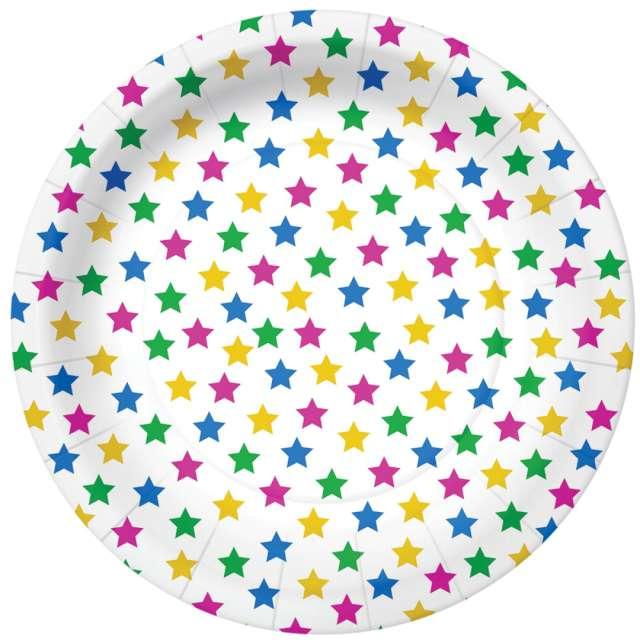 _xx_STARS - colorful paper plate (O) 18 cm