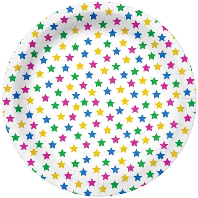 _xx_STARS - colorful paper plate (O) 23 cm
