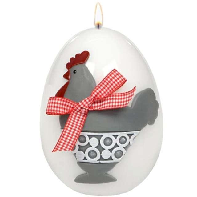 """Świeca """"Wielkanocne jajko - Kokoszka"""", biała, Adpal, 140/100 mm"""