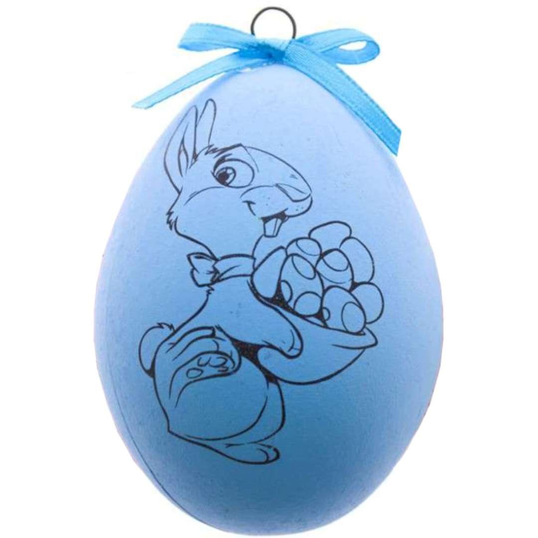 Zestaw kreatywny Jajko z farbkami niebieskie Arpex