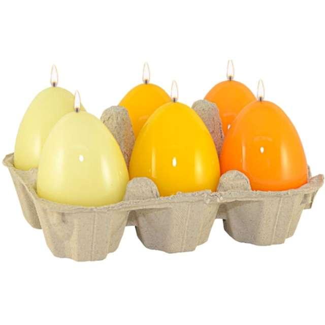 """Świece """"Wielkanocne jajko - mix lakierowany"""", żółte, Adpal, 60/45 mm"""