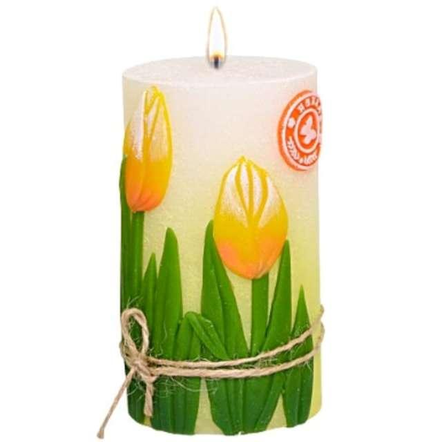 """Świeca pieńkowa """"Tulipany"""", Adpal, 115/70 mm"""