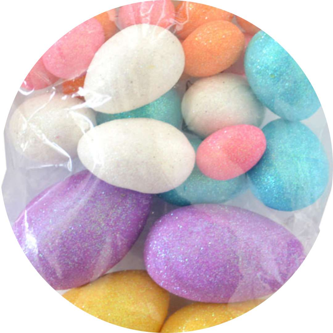 "Jajka ""Brokatowe pisanki"", mix, Arpex, 2,5 - 6 cm, 24 szt"