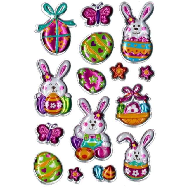 Naklejki Wielkanocne pisanki i zajączki Brewis