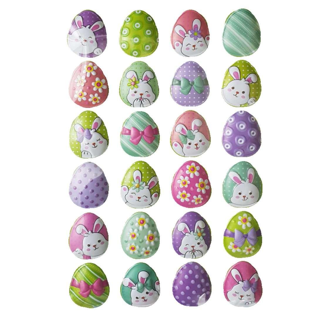 Naklejki wypukłe Wielkanocne zajączki na jajkach Arpex