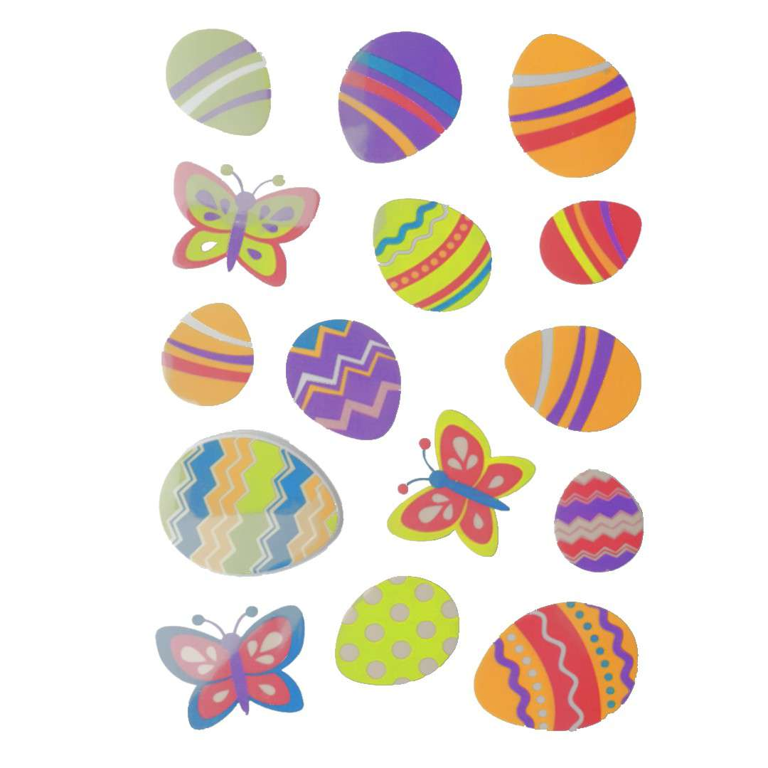 Naklejki Wielkanocne jajka i motyle Arpex