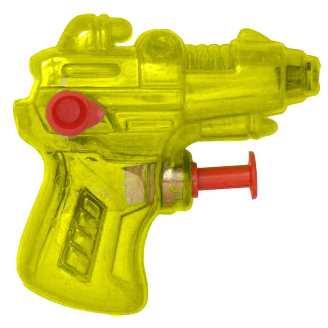 "Psikawka ""Mini pistolet"", żółty transparent, Arpex, 6,5 cm"