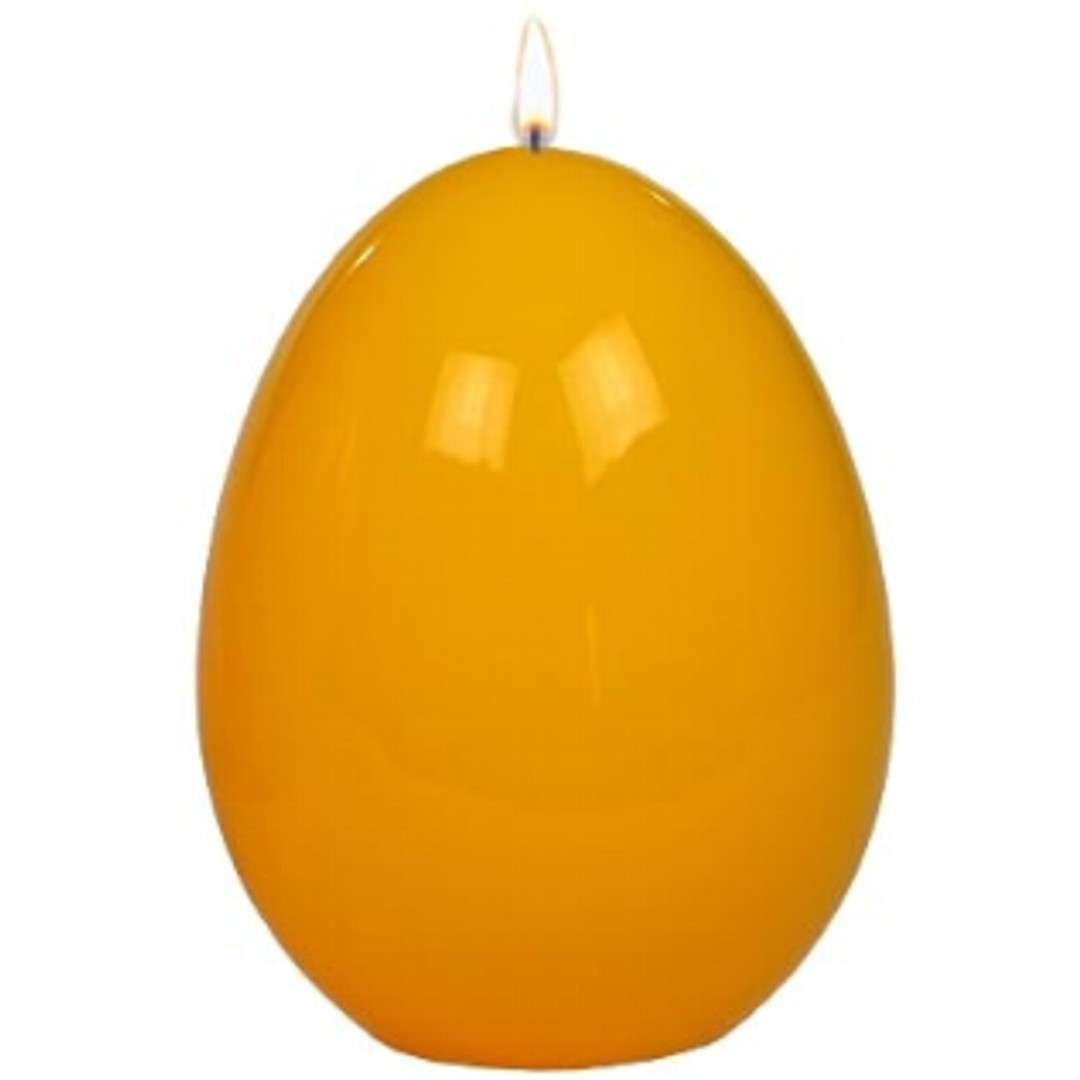 """Świeca """"Wielkanocne jajko lakierowane"""", żółte, Adpal, 90/70 mm"""