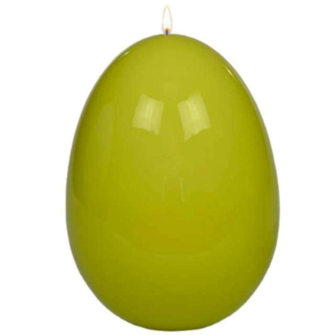 """Świeca """"Wielkanocne jajko lakierowane"""", pistacjowe, Adpal, 90/70 mm"""