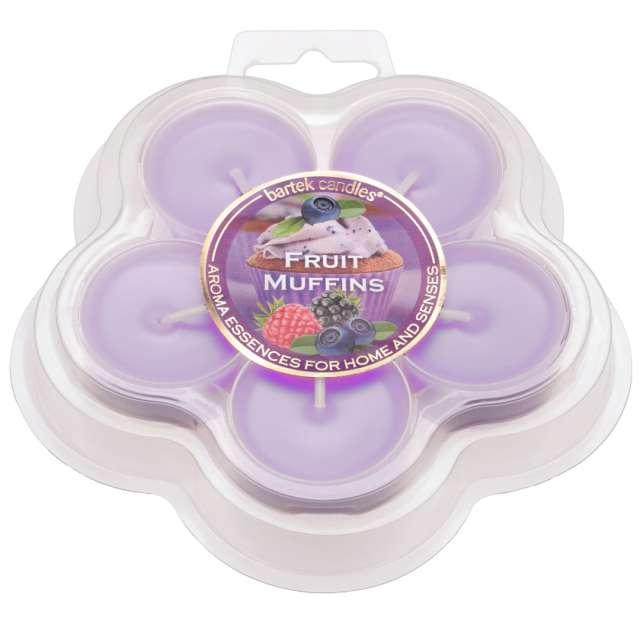 Podgrzewacz zapachowy Fruit Muffins fioletowy Bartek-Candles 5szt.