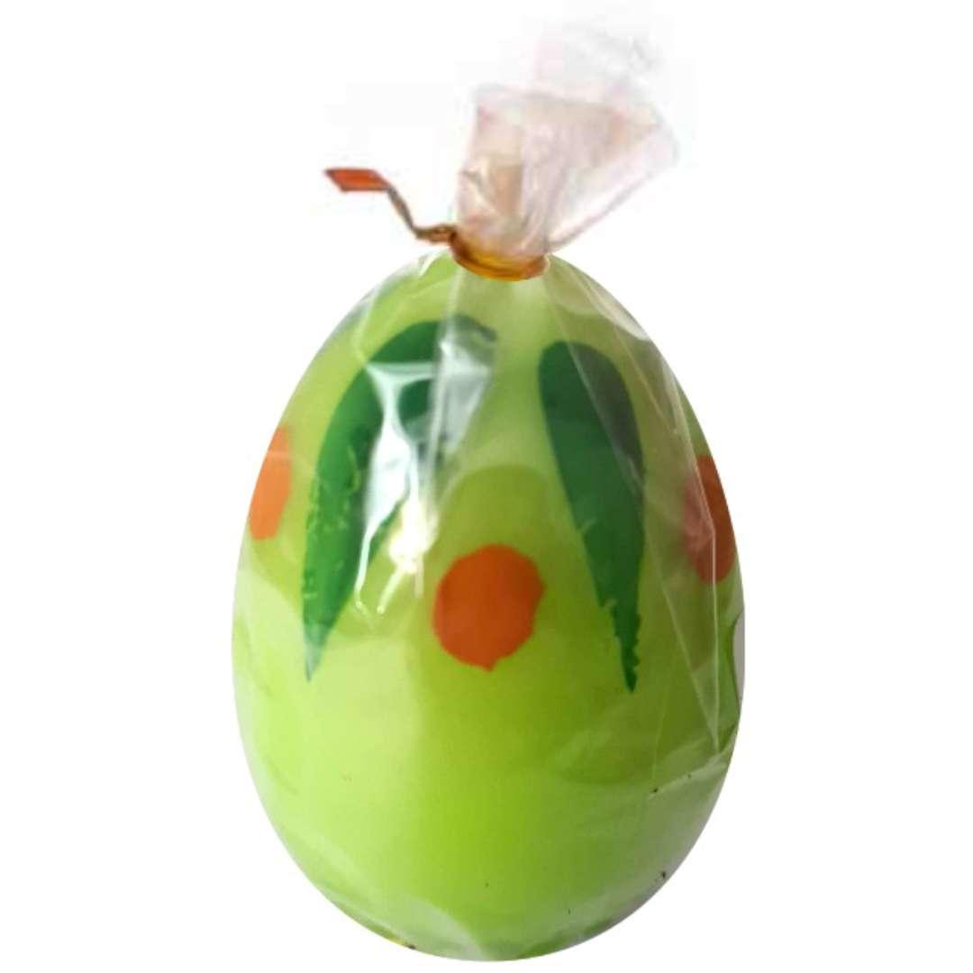 Świeca Wielkanocne jajko w plamki zielona Arpex 6cm