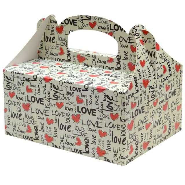 """Pudełko na ciasto """"Love"""", FSOpakowania, 5 szt."""