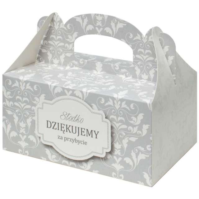 "Pudełko na ciasto ""Ornament"", srebrne, FSOpakowania, 5 szt."