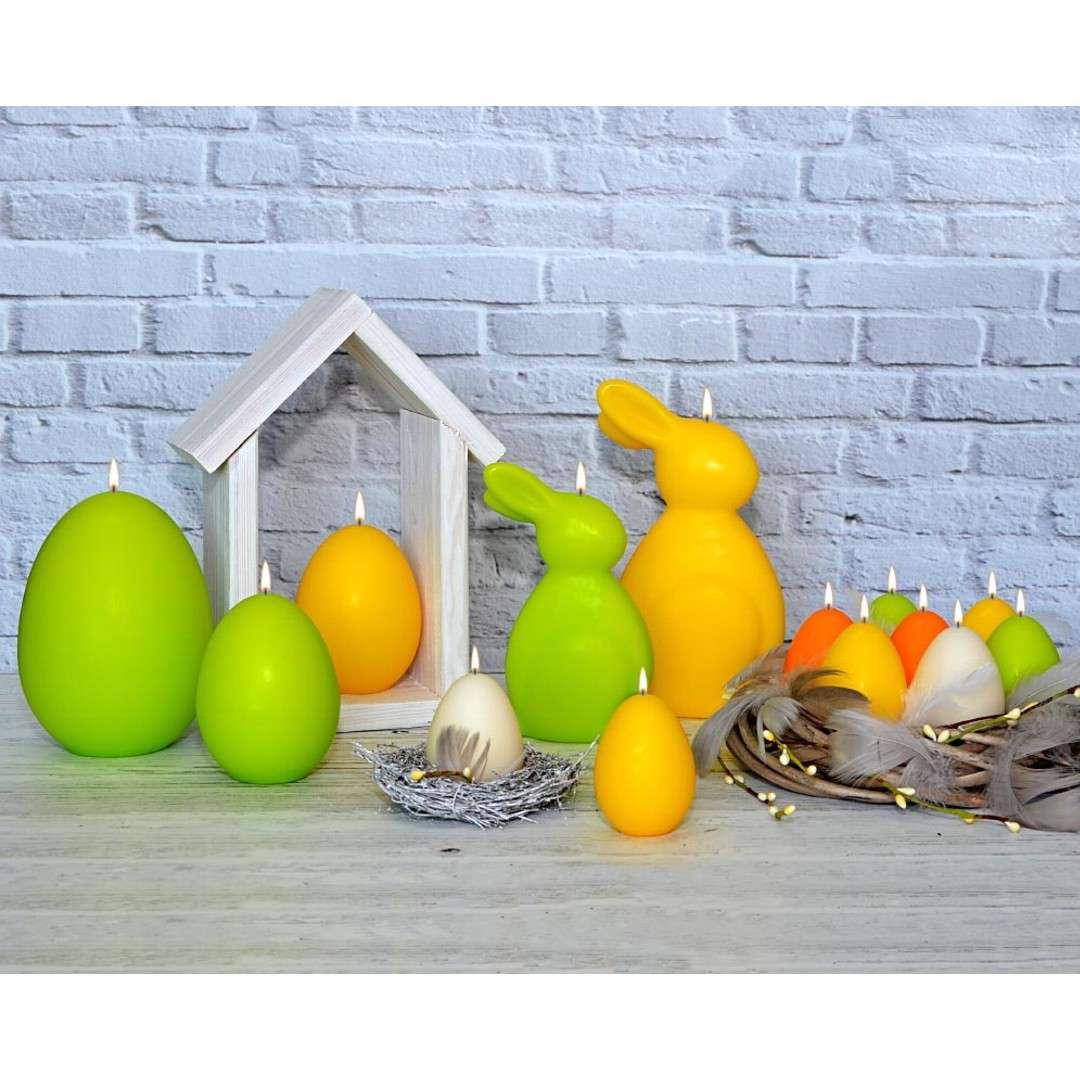 Świeca Wielkanocne jajko classic zielony mat Adpal 14cm