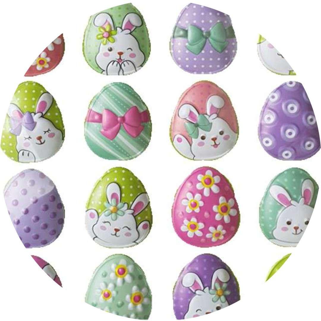 """Naklejki wypukłe """"Wielkanocne zajączki na jajkach"""", Arpex"""