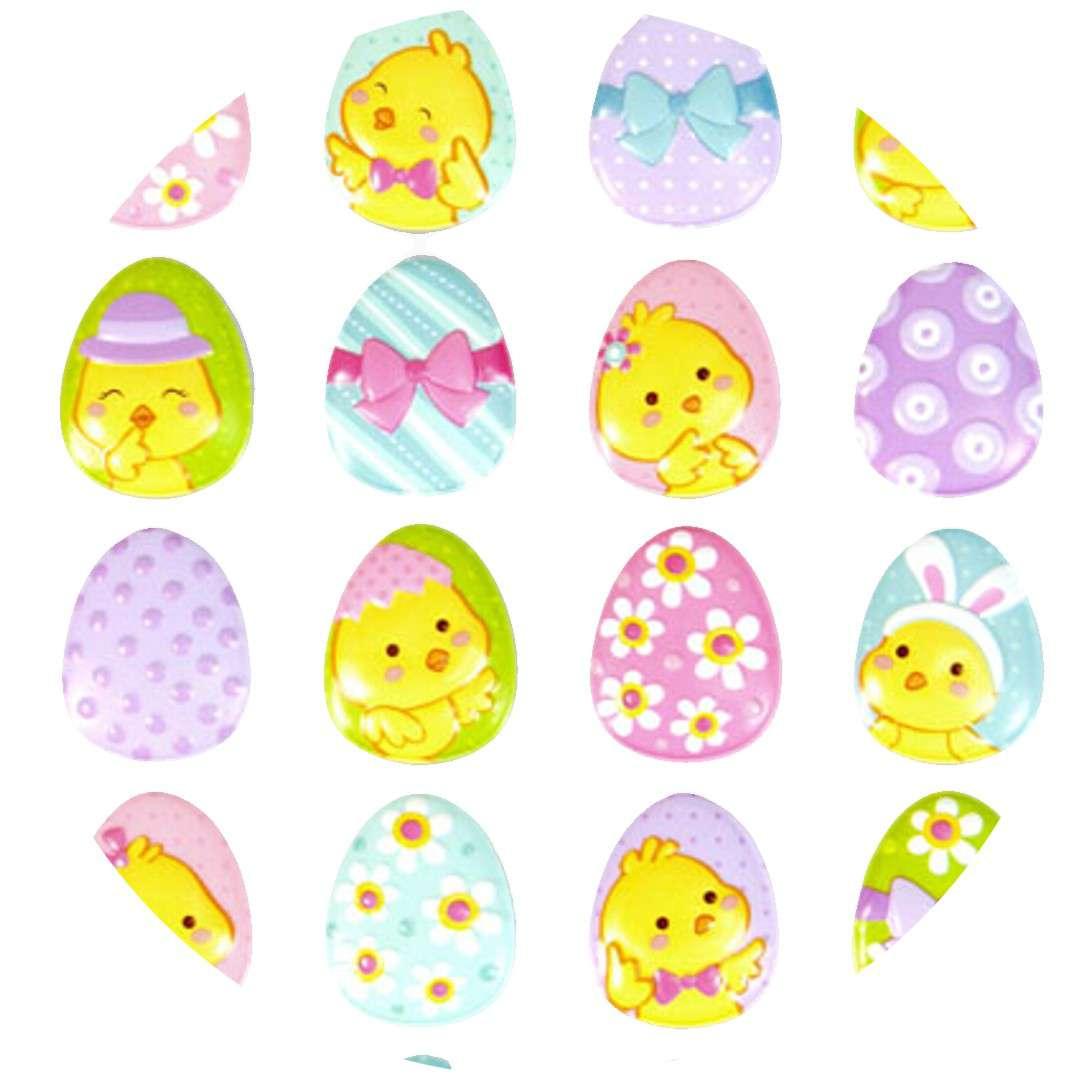 """Naklejki wypukłe """"Wielkanocne pisklaki na jajkach"""", Arpex"""