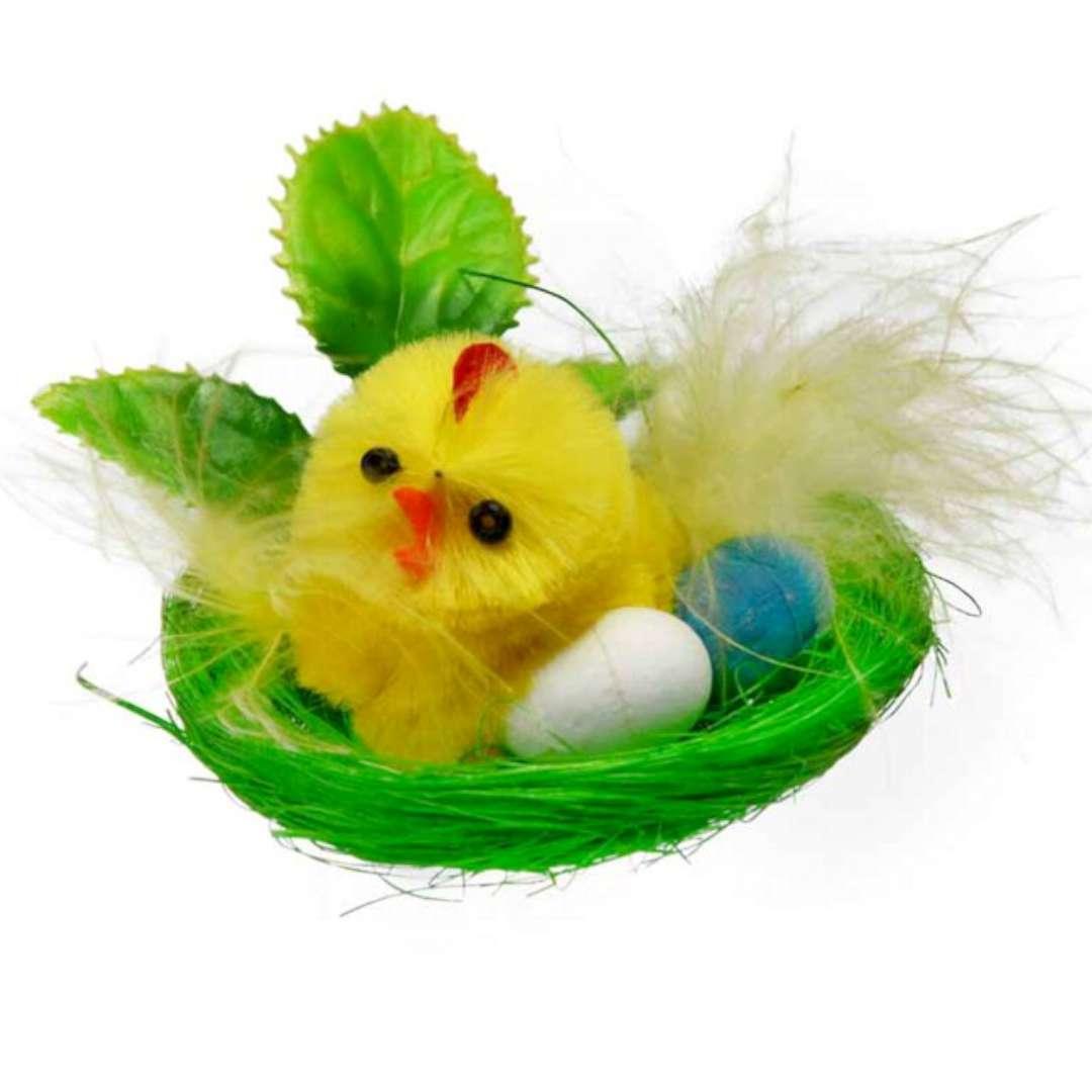"""Dekoracja """"Kurczak w zielonym gniazdku """", Arpex"""