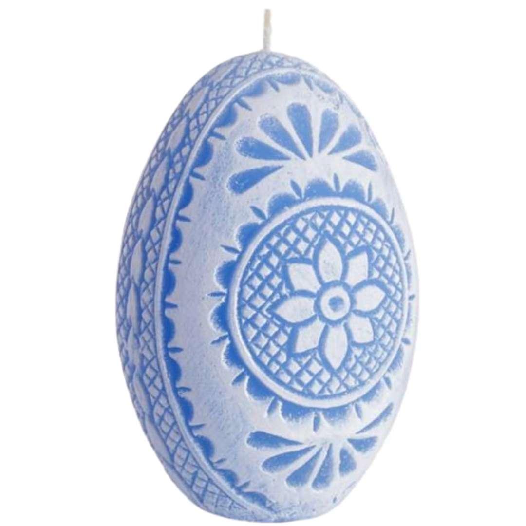 """Świeca """"Wielkanoc - Pisanka Ażurowa"""", niebieska, Bartek-Candles, 75 mm"""