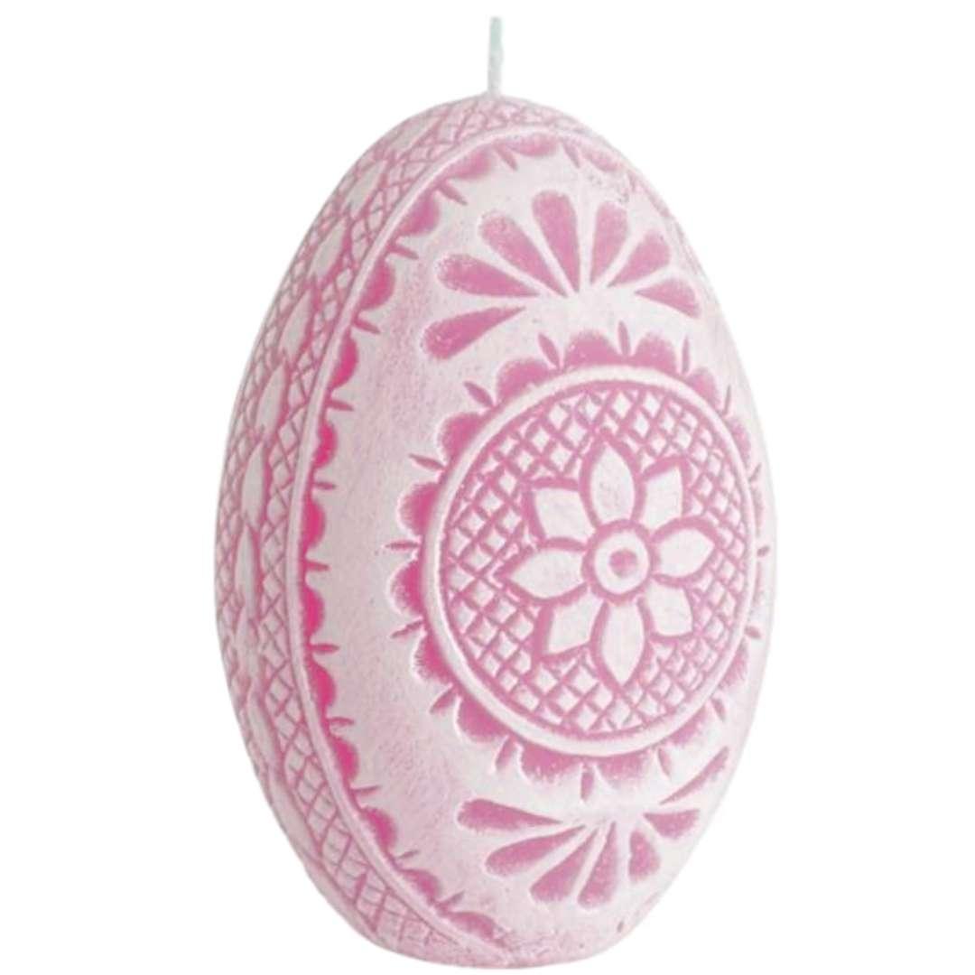 """Świeca """"Wielkanoc - Pisanka Ażurowa"""", różowa, Bartek-Candles, 75 mm"""