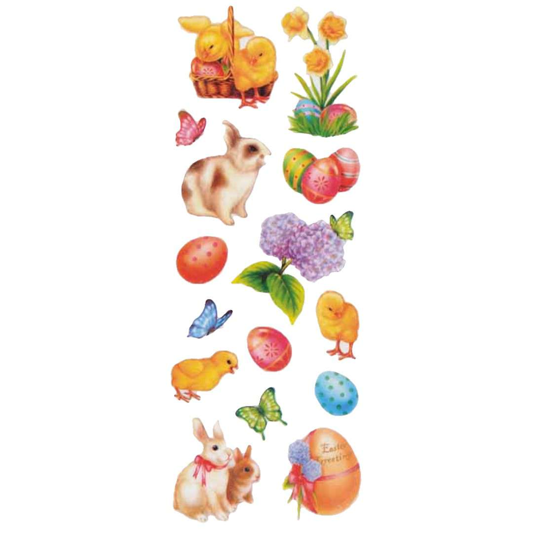 Naklejki z brokatem Wielkanocne zwierzęta Arpex